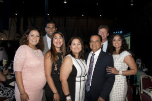 The Johl Family at the 2016 California State Fair Gala (Pictured left to right, front row: Anu Johl Singh, Sureena Johl, Prabhjot Johl, Sarb Johl, and Kiran Johl Black. Pictured left to right, back row: Mithu Singh and Cameron Black.)